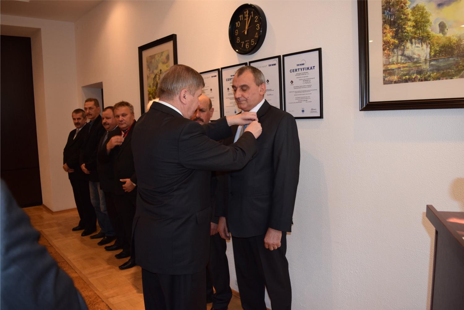 Odznaczenia Prezydenta RP dla pracowników FTT Wolbrom S.A.