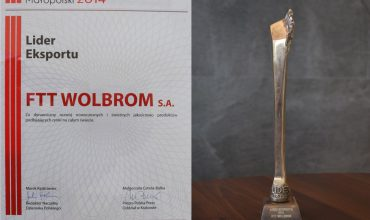 "FTT Wolbrom S.A. laureatem konkursu ""Lider Małopolski 2014"""