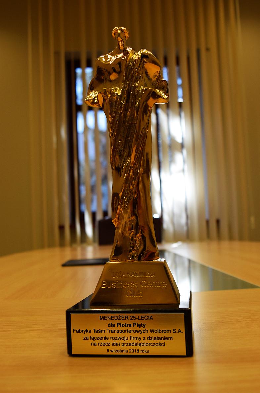 Prezes Zarządu FTT Wolbrom S.A. – Piotr Pięta – Laureatem złotej statuetki Menedżera 25-lecia